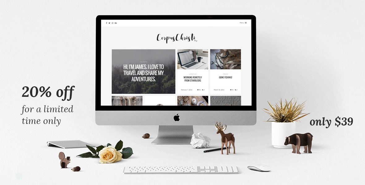 CorpusChristi - Modern Blog WordPress Theme - 1
